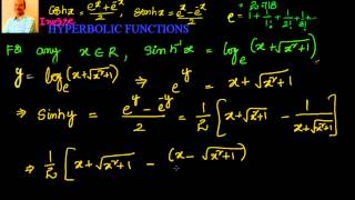 Inverse Hyperbolic Functions as Logarithmic functions