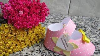 getlinkyoutube.com-Decoração Chá de Bebê - Porta guardanapo Sapatinho de Bebê