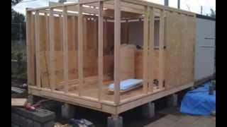 getlinkyoutube.com-【DIY】ドシロウトが中学の時の技術の知識で作業場を作ってみた【犬小屋ベース】