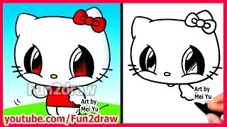 getlinkyoutube.com-How to Draw Cartoon Characters - Hello Kitty - Fun2draw Easy drawings