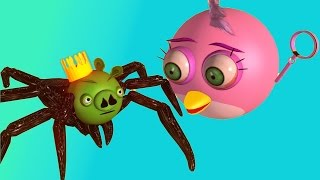 getlinkyoutube.com-ANGRY BIRDS  in MUTANT GIANT SPIDER DOG ♫  3D animated viral vid mashup ☺ FunVideoTV - Style ;-))