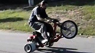 getlinkyoutube.com-DHC Motorized Drift Trike, Drifting Runs AND Wheelies!
