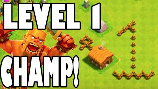 "getlinkyoutube.com-Clash of Clans - ""LEVEL 1 BARB CHAMPION!"" 100 TROPHIES IN 5 MINUTES AT TOWN HALL 2! Mini Challenge!"