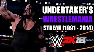 getlinkyoutube.com-WWE 2K16: The Undertaker's WrestleMania Streak (1991 to 2014)