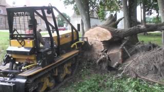 getlinkyoutube.com-Oxtrac remove a stump (enlèvement d'une souche)