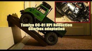 getlinkyoutube.com-Tamiya CC-01 HPI Reduction GearBox adaptation tutorial