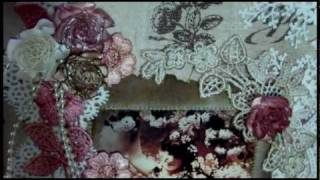 getlinkyoutube.com-Shabby Chic Fabric Canvas