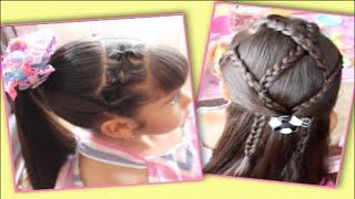 getlinkyoutube.com-Dos Peinados De Niña Para El Regreso A Clases | Colab Con Sandy's Style