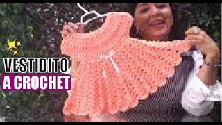 getlinkyoutube.com-TEJE VESTIDO PARA NIÑA P2 - Crochet fácil y rápido - Lanas y Ovillos y Yo Tejo con Laura Cepeda