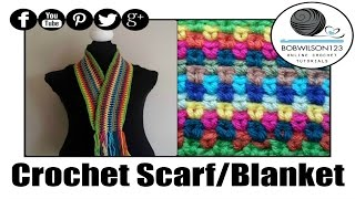 getlinkyoutube.com-Crochet Moss / Seed  Stitch Scarf / Afghan Tutorial