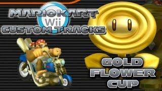 getlinkyoutube.com-Mario Kart Wii Custom Tracks: Gold Flower Cup