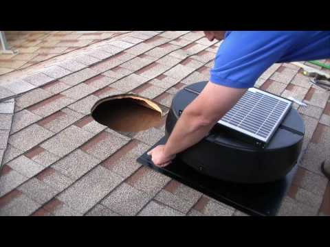Installation Instructions - 1010TR Solar Powered Attic Fan