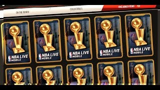 NBA LIVE MOBILE RAGE!!! 60+ AWARD WINNERS PACKS! MOST ON YOUTUBE! HUGE PACK OPENING PLUS 88 OVERALL