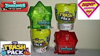 Zomlings Series 3 Houses Vs Trashies Series 5 Toilets Toy Blind Bag Unboxing