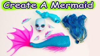 getlinkyoutube.com-Mermaid Siren Create A Monster High Doll Add On Starter Pack CAM Playset Set Cookieswirlc