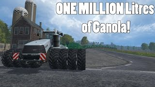 getlinkyoutube.com-Farming Simulator 15 - 1100 HP Tractor Hauling One Million Litres of Grain! - Part 2