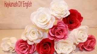 getlinkyoutube.com-Como Hacer Flores de Papel Crepe Rosa Flores
