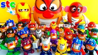 getlinkyoutube.com-Mr Potato Head Collection Marvel Avengers y Transformers