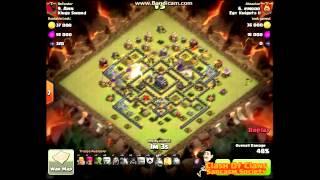 getlinkyoutube.com-3 Stars War Attack - Hogs & Golems - TH9 vs. TH9 - Clash Of Clans