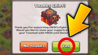 """""""NEW!!"""" UPDATE IS HERE!! Clash of Clans - NEW Red Gems (Town hall Customization!)"""