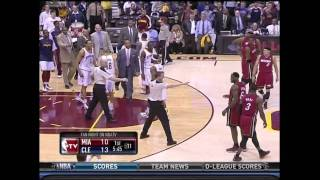Cavs vs Heat 3.30.11: Wade Tells Ryan Hollins That He We Will F' Him Up