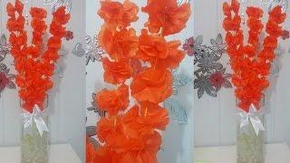 getlinkyoutube.com-Aula 24 - Como fazer arranjos de flores de papel de seda (Acabamento) - Artesanato