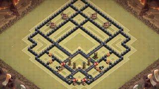 getlinkyoutube.com-Clash of Clans - Best TH9 War Base - Speedbuild