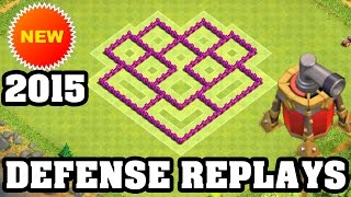 getlinkyoutube.com-Clash of Clans Town Hall 6 Defense + REPLAY (CoC TH6) BEST Hybrid Base Layout Defense Strategy