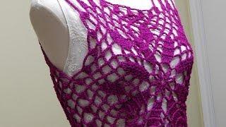 getlinkyoutube.com-Blusa Bugambilia Crochet parte 1 de 2