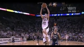 getlinkyoutube.com-Rookie Manu Ginobili vs New Jersey Nets - FULL highlights - G6 2003 NBA FInals