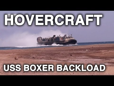 Amphibious Assault Ship USS Boxer Backload - 13th Marine Expeditionary Unit, Hovercraft