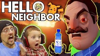 getlinkyoutube.com-HELLO NEIGHBOR! Scary BASEMENT Mystery Game!  His Secret? Water Bottle Flip Addiction? (FGTEEV Fun)