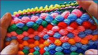 getlinkyoutube.com-Коврик из самодельной помпонной пряжи (mat homemade yarn pom-poms)