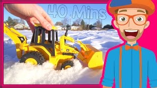 getlinkyoutube.com-Educational Videos for Toddlers with Blippi | Backhoes and Colors!