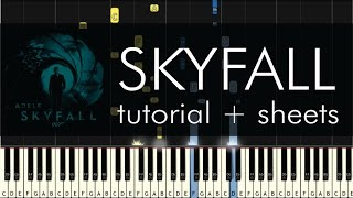 getlinkyoutube.com-Skyfall - Piano Tutorial - How to Play - Adele