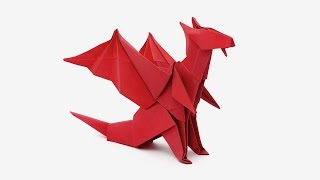 getlinkyoutube.com-Origami Dragon (Jo Nakashima) -Dragon #6