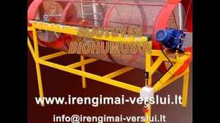 getlinkyoutube.com-Sieving machine. Rotary drum filter. Sifter - DIY (Do It Yourself) - Homemade from drawings.