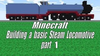 getlinkyoutube.com-Minecraft, Building a Steam Locomotive Tutorial part 1