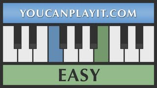 Auld Lang Syne - Easy Piano Tutorial - How to Play
