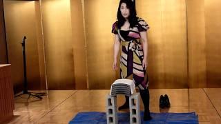 Kyokushin Karate 全日本女子チャンピオン 前田瑠美さん 瓦割り