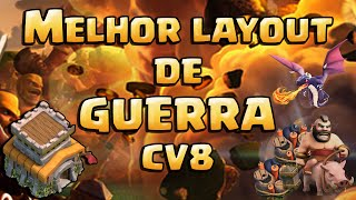 getlinkyoutube.com-MELHOR LAYOUT DE GUERRA CV8 + REPLAYS Anti Dragão+Anti Corredor+Anti Gowipe