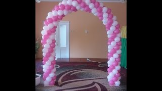 getlinkyoutube.com-Арка гирлянда из воздушных шаров своими руками Arch of balloons