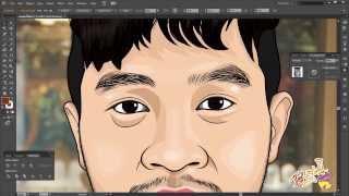 getlinkyoutube.com-การวาดภาพล้อเลียนด้วยโปรแกรม Adobe Illustrator ขั้นที่1 ส่วนหัว