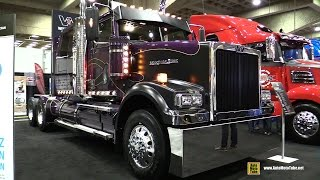 "getlinkyoutube.com-2015 Western Star 4900 SF 68"" Low Roof Tractor Truck with Detroit DD16 15.6L 600hp Eng - Walkaround"