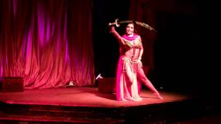 getlinkyoutube.com-Meliza Snakes and Sword. The Jewels That Raq www.bellydancingshows.com music by Jef Stott-