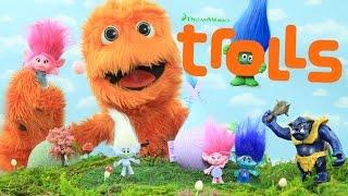 getlinkyoutube.com-Trolls Movie TOYS Unboxing Review Blind Bag Figures Dolls for kids