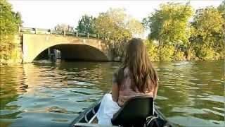 getlinkyoutube.com-16' Canoe 5HP Outboard Top Speed Test
