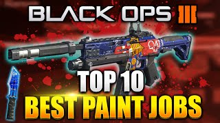 "getlinkyoutube.com-Black Ops 3 - ""TOP 10 PAINTSHOP CAMOS!"" FC BARCELONA CAMO! Best Rare Paintjob Camo - (BO3 Rare Camo)"