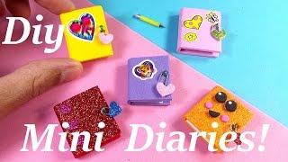 getlinkyoutube.com-DIY Miniature Diaries / Journals - Easy & Cute!