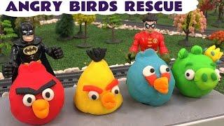 getlinkyoutube.com-Imaginext Batman Rescue Play Doh Angry Birds Thomas &  Friends Cars Avengers Hulk Spider-Man